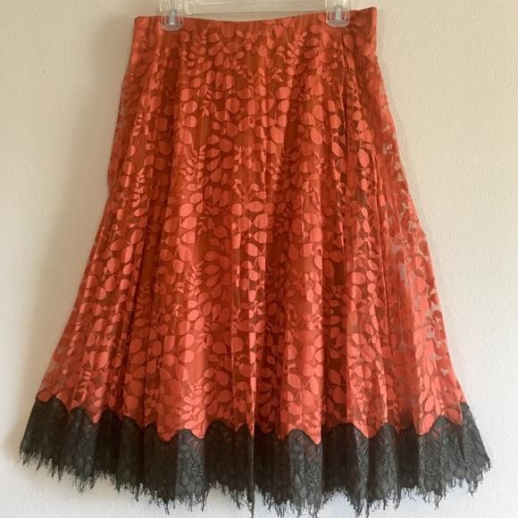 8ec45f30e4 Chelsea & Violet Skirts | Nwt Chelsea Lace Floral Stretch Fringe ...